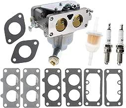 Carbhub 791230 Carburetor for Briggs & Stratton 791230 699709 499804 799230 Manual Choke Carb V-Twin 4-Cycle 20hp-25hp Vertical Engines 40G777 446777 407677 406777 Briggs & Stratton 791230 Carburetor
