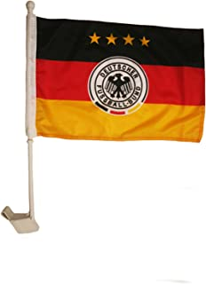 SUPERDAVE SUPERSTORE Germany 4 Stars, Deutscher Fussball - Bund Logo FIFA World Cup Heavy Duty Car Stick Flag 12