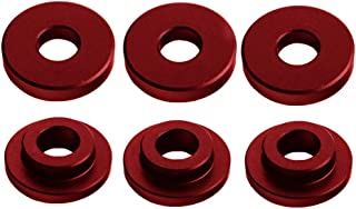 DEWHEL Shifter Cable Bracket Bushings For Ford FOCUS ST & RS 2013-up 6 Speed Manual Transmissions Red