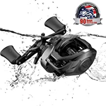 Cadence CB5 Baitcasting Reels Lightweight Graphite Frame Fishing Reels with 8 Corrosion Resistant Bearings Baitcaster Reels Carbon Fiber Drag Baitcast Reels with 6.6:1 Gear Ratio Casting Reels