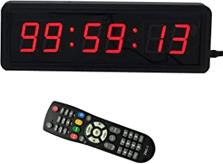 1.5'' 6Digits LED Countdown Wall Clock Escape Room Public Talk Church Timer