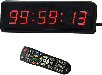 1.5 6Digits LED Countdown Wall Clock Escape Room Public Talk Church Timer