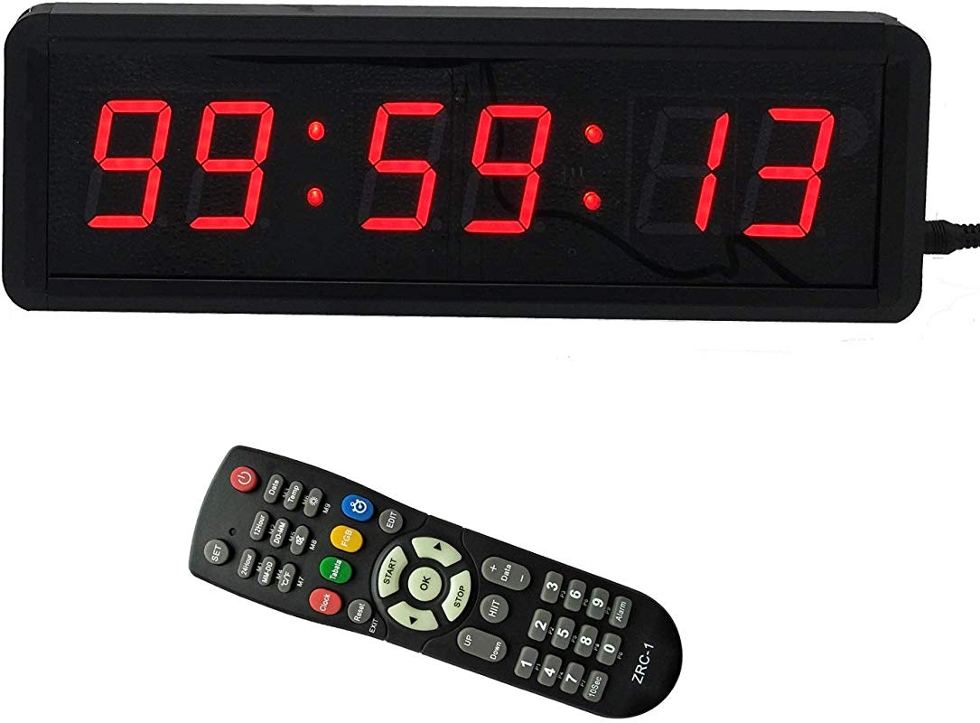 1 5 6Digits LED Countdown Wall Clock Escape Room Public Talk Church Timer