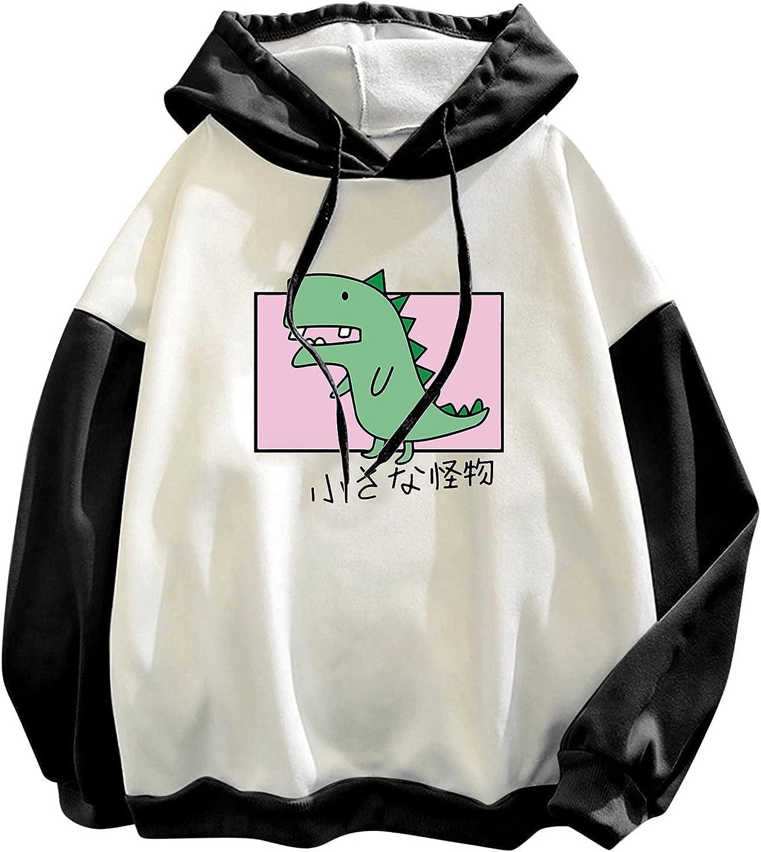 nunonette Cute Sweaters for Women?Womens Pullover Dinosaur Printed Hoodies Casual Long Sleeve Plus Size Sweatshirt Top