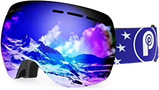 picador Ski Goggles PRO Over The Glasses with Detachable Dual Layer Anti-Fog Lens for Women and Men