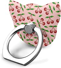 Pink Cherry Ring Cell Phone Holder Adjustable 360° Rotation Cellphone Finger Ring Grip Smart Phone Stand for All Universal Mobile Phone Smartphone Tablets Cat Type