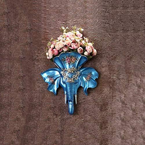 ZXL Wanddecoratie ideeën woonkamer studie wandhanger bloempotten retro ornamenten (kleur: blauw, maat: A)