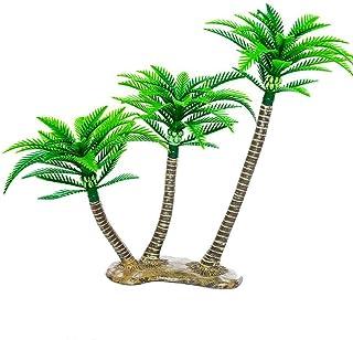 BESTOYARD Artificial Coconut Tree Decor Mini Tropical Palm Trees Fairy Garden Landscape Scenery Decoration