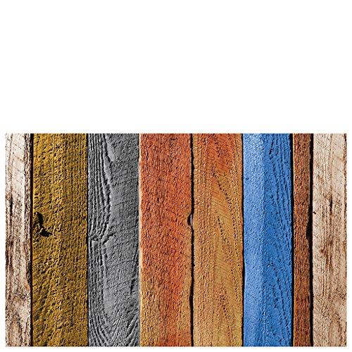 Laroom Tapis en Vinyle et PVC antidérapant Multicolore