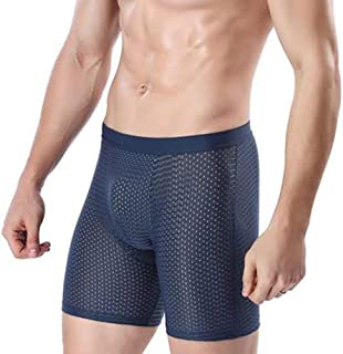Men Boxers Sexy Breathable Mesh Lengthened Underwear Shorts Slip Homme Boxer Shorts Panties