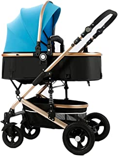 Stroller Pushchair,Carrycot,Pram cart, Portable,Shockproof,Travel, Compact, Compact and Lightweight,Awning Bike, for Newborn and Toddler - E