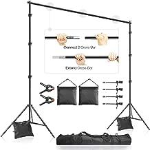 LimoStudio 10 x 9.4 feet Frame Length Adjustable Photo Video Backdrop Muslin Stands,..