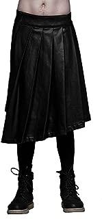 Widow by Lip Service Mens Tenebrae Black Wax Coated Tartan Kilt