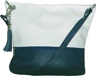 acfd34a9b5 Chapeau-tendance - Sac a main en cuir bi color bleu - - Femme
