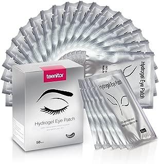 Teenitor Under Eye Pads, Lint Free Lash Extension Eye Gel Patches for Eyelash Extension Eye Mask Beauty Tool - 50 Pair
