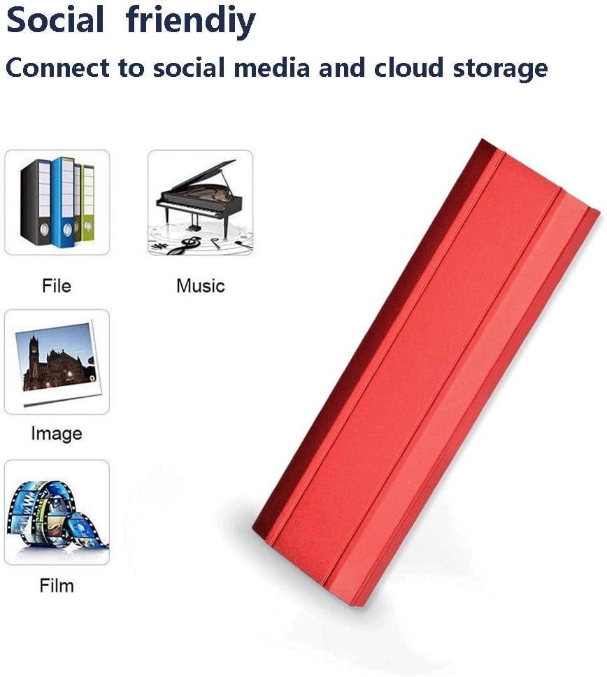 rojo-2TB disco duro externo port/átil para PC Disco duro externo 1TB 2TB port/átil y Mac