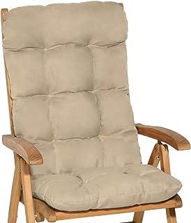 comprar comparacion Beautissu Cojín para sillas de balcón Flair HL - Cojín para Asiento Exterior con Respaldo Alto - 120x50x8 cm - Relleno de ...
