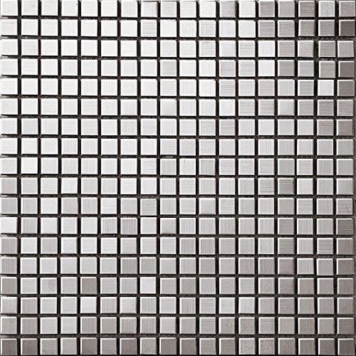 Art Deco metallo mosaico acciaio inossidabile Mosaico muro300*300mm--Cucina Backsplash/Parete da bagno/decorazione domestica(SA002)