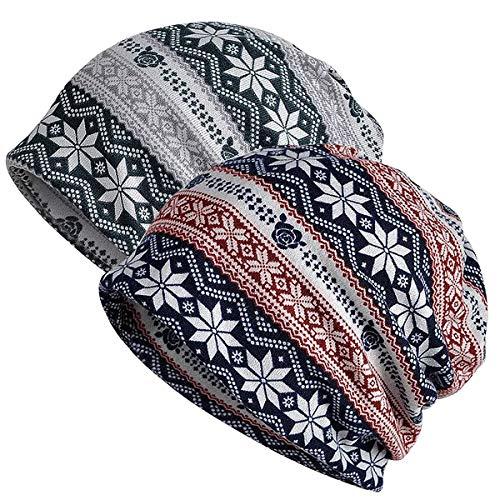 2 Women's Cotton Beanie Caps Now $11.04
