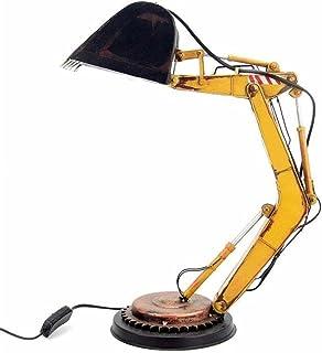 Crazyfly Vintage bordslampor, kreativ järn grävmaskin modell lampa skrivbord prydnad hållbar LED nattduksbord lampa mjuk n...