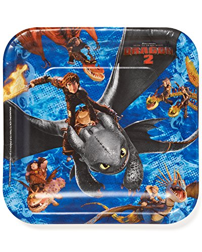 How to Train Your Dragon 2 Square Plate, 9', Party Favor