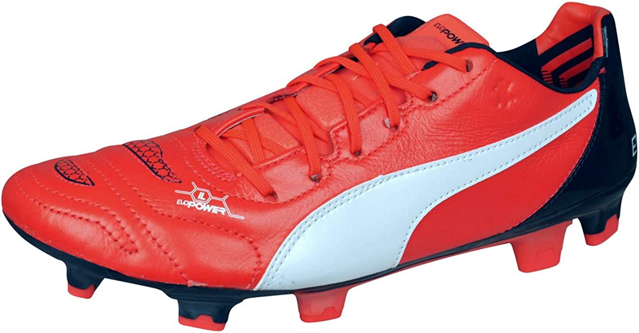 PUMA Max 82% OFF El Paso Mall Evopower 1.2 Leather FG Mens Firm Cleats Soccer Foot Ground