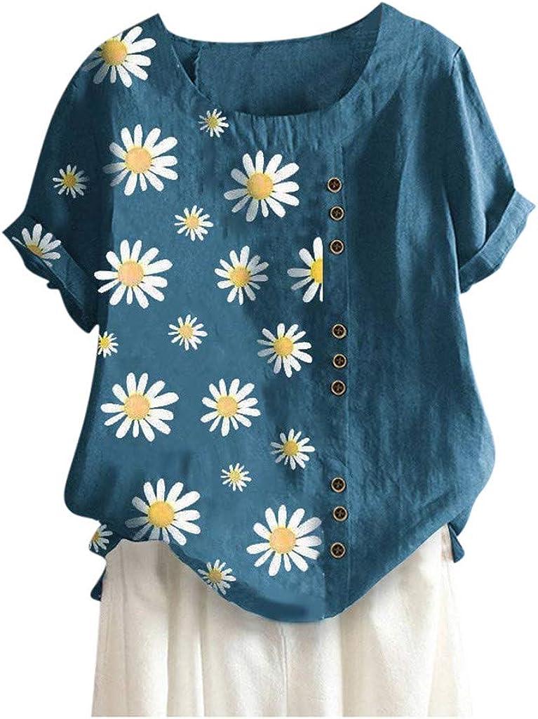 Weginte Women Trust Free shipping T Shirts Casual Sleeve Short Prin Summer Sunflower