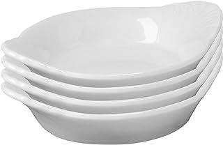 Set di 4 ciotole in ceramica a forma di goccia colore: Bianco 8,5 x 7 x 2 cm Westmark 6975224D