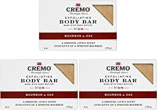 Cremo Exfoliating Body Bar With Shea Butter, Bourbon & Oak, 6 oz. (pack of 3)