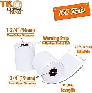TK Thermal King, Thermal Credit Card Paper (2 1/4