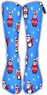 Compression Socks For Women Men Penguins Cute Christmas Package Casual Sock
