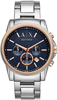 Armani Exchange Men's AX2516 Chronograph Analog Display Analog Quartz Silver Watch