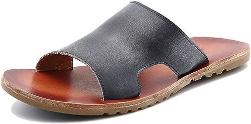LYZGF Hommes Jeunes Décontracté Pantoufles D'été Mode Plage Anti-dérapant Sandales