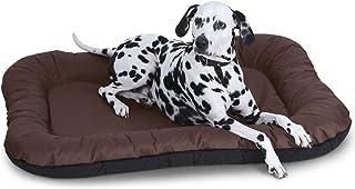 Mellifluous Medium Size Dog and Cat Reversible Pet Bed, Grey-Black