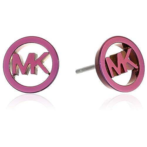 f2bd83767 Michael Kors Womens Plum Plated Stud MK Logo Earrings