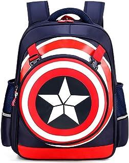 Los Vengadores Mochila Escolar Capitán América Backpack School para Niños Juveniles Portatil Bolso Viaje Impermeable Nilon Creativo Diario Regalo para 2020