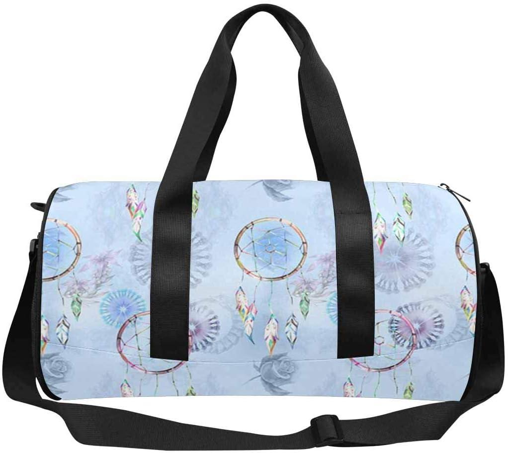 Superior INTERESTPRINT Blue Boho Style Max 78% OFF Weekender Bag Travel Duffel
