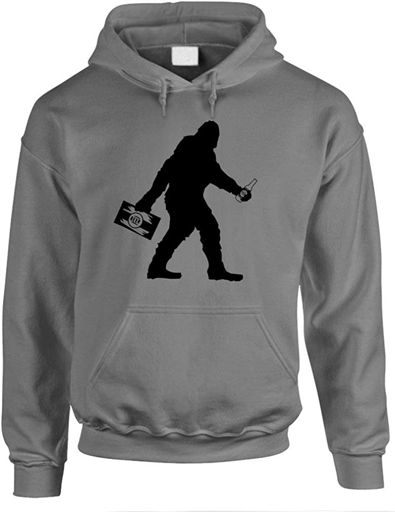 The Goozler Sasquatch Bigfoot with Beer Funny Party - Mens Pullover Hoodie