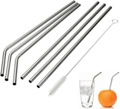 Stainless Steel Drinking Straws, Reusable Metal Drinking Straws with Cleaning Brushes for 30 20 Oz Yeti RTIC Tumbler Rambler Cups