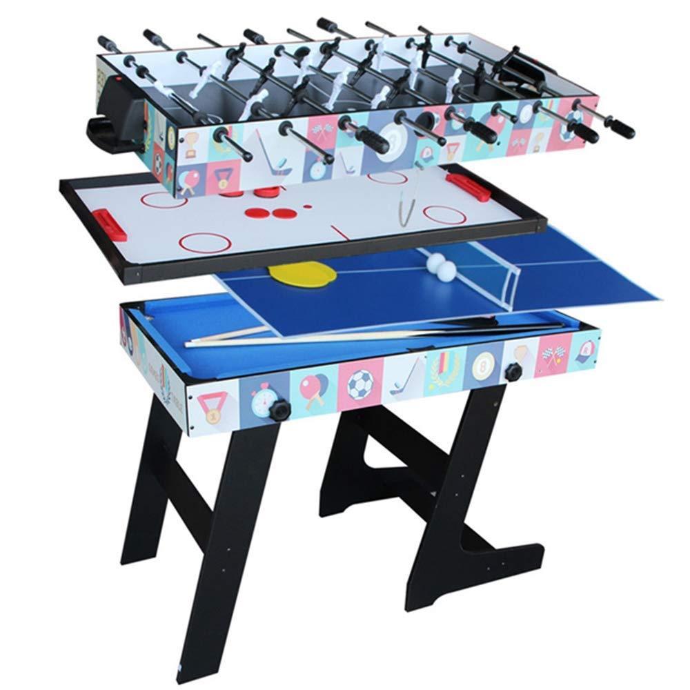 YQSHYP Mesa Plegable de fútbol, 4 en 1 Top Juegos de sobremesa ...