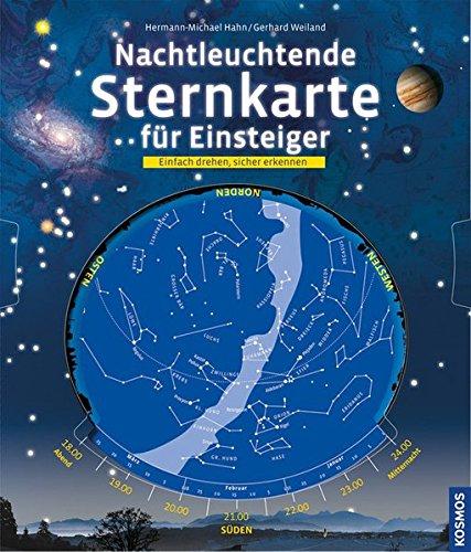 Nachtleuchtende Sternkarte für Einsteiger: Einfach drehen, sicher erkennen