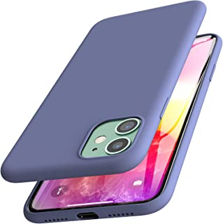 TOZO for iPhone 11 Case 6.1 Inch (2019) Liquid Silicone Gel Rubber Shockproof Shell Ultra-Thin [Slim Fit] Soft 4 Side Full Protection Cover for iPhone 11 with [Blue]