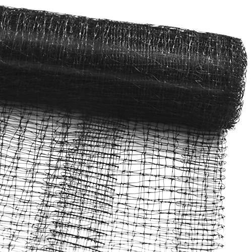 Vogelschutznetz zum Abdecken von Bäumen, Sträuchern, Beeten | viele Größen | reißfestes Vogelnetz für Garten, Balkon oder Teich | Netz zum Schutz vor Vögeln | Maschenweite: 13 mm | schwarz | 4x5 m