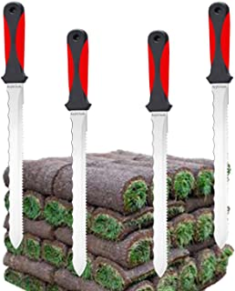 Keyfit Tools (4 Pack SOD Knife Stainless Steel Blade Sod Cutter Trim New Sod Around Landscape Edging Beds & Sunken, Overgr...