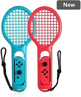 Miitech Switch テニスラケット マリオテニス エース Joy-Conハンドル スイッチ ジョイコン専用 ラケット型 アタッチメント Nintendo Switch
