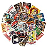 WENCHI Girl Moto Vintage Stickers para Equipaje en Laptop Skateboard Bicycle Fridge Sticker Set 30 Piezas