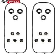 Vincos Engine Valve Cover Gasket VS50576R Replacement For Honda Acura 1997-2004 3.0 3.2 3.5L HONDA PILOT 2003-2004 3.5L V6 and ODYSSEY 2002-2003 3.5L V6 Replacement For ACURA TL 1999-2003 3.2L V6