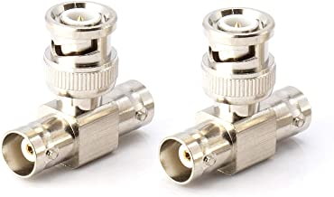 THE CIMPLE CO - BNC T Adapter - T-Shaped Coax Splitter - 1 Male Port to 2 Female Ports, Coaxial Cable Extension - 4 Pack