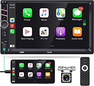 $92 » Apple Carplay Double Din Car Stereo, Rimoody 7 Inch Touchscreen Android Auto Car Radio Support Bluetooth FM Mirror Link fo...