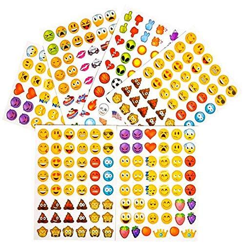 German Trendseller® - Emoji Sticker Pack┃ Aufkleber ┃ Emoticons ┃ Twitter ┃ Facebook ┃ Instagram ┃ 288 Sticker